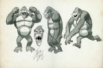 Dessins préparatoires pour le cartoon « The King Kong Show ».