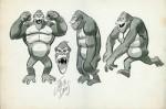 Dessins préparatoires pour le cartoon « The King Kong Show ».