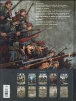 4ème de couverture au tome 5 en 2016.