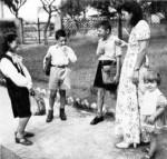 Annie Gillain et ses enfants à Cuernavaca.