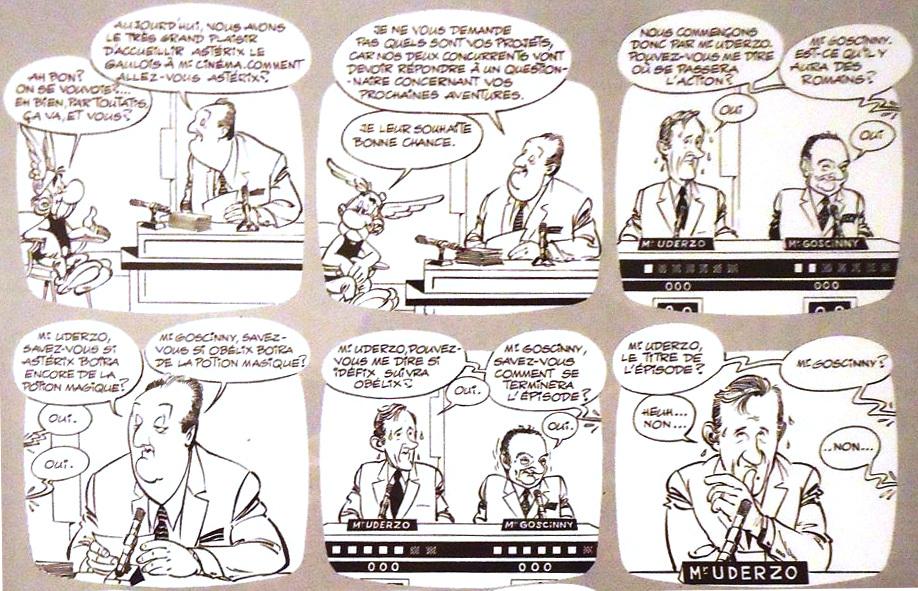 Participation à une planche annonçant « Astérix chez les Helvètes », dans le n° 556 de Pilote daté du  2 juillet 1970.