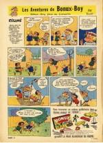 «Les Aventures de Bonux-Boy», planche publicitaire dessinée par Benoît.