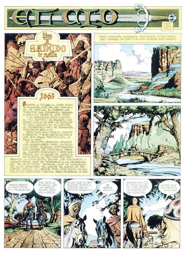 Première page d'« El Cid » dans Trinca.