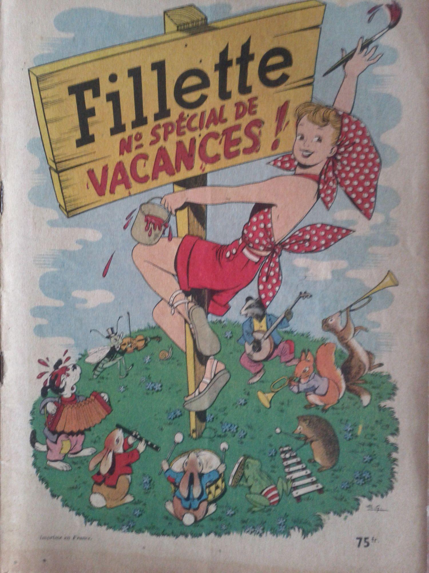 Fillette vacances1954