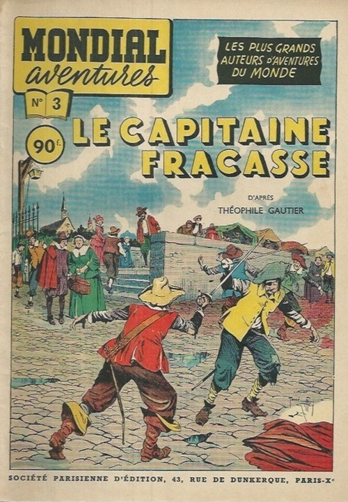 Reprise du « Capitaine Fracasse » de René Giffey dans la collection Mondial Aventures.