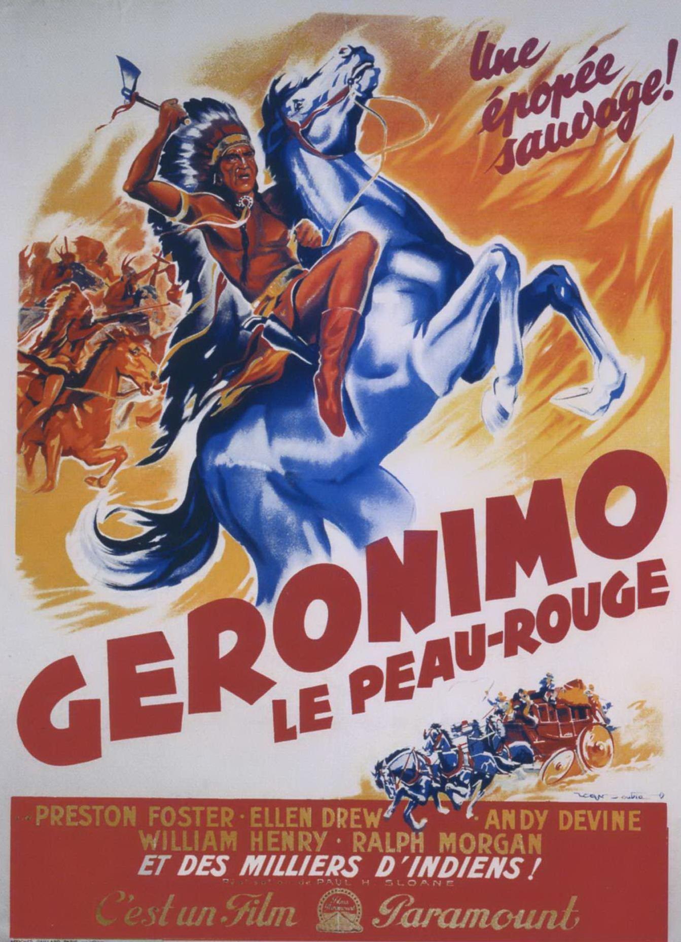 Affiche de Geronimo le Peau rouge (1939) par Paul Sloane