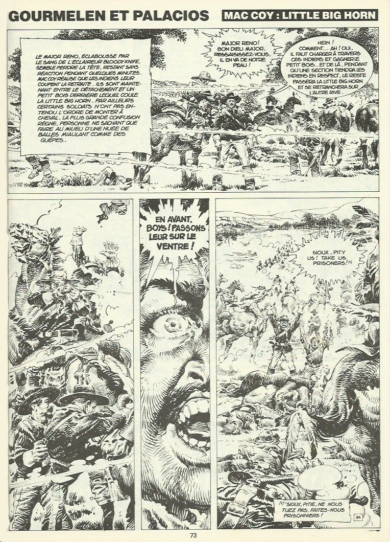 « Little Big Horn » dans le mensuel Pilote, en 1980.