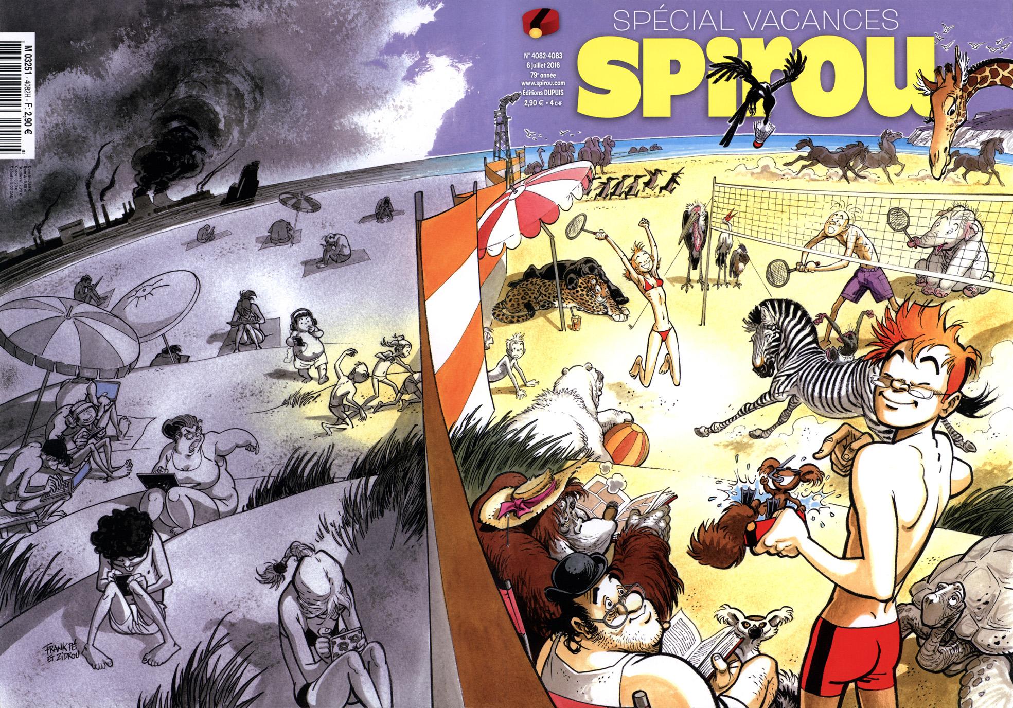 """Quand Spirou croise l'esprit """"Broussaille"""" (couvertures du n° de l'été 2016 et de L'Immanquable n°66)"""