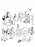 """Encrages pour les différents personnages de l""""intrigue"""