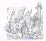 Rough et dessin finalisé pour un ex-libris