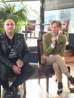 """Corbeyran (scénariste) et Beja (dessinateur), auteurs du nouvel opus de """"Bécassine"""""""