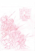 Ce crayonné destiné à la couverture du tome 1 deviendra... la  4ème de couv' !
