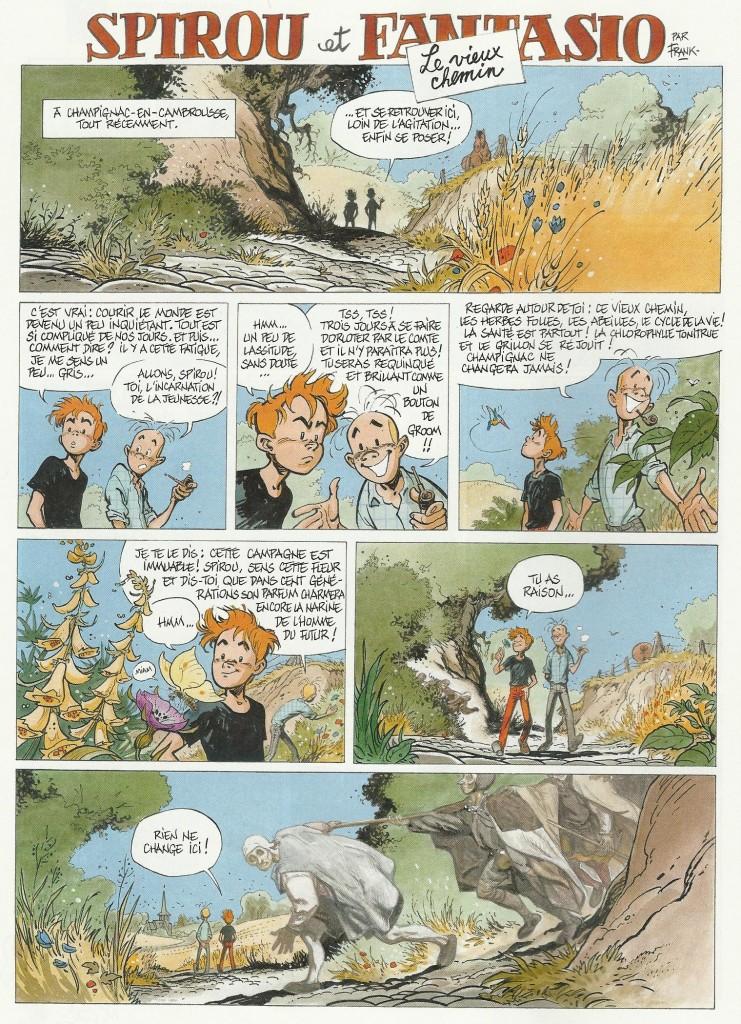 Le Vieux chemin (planche 1), un récit en deux planches paru en 2013.