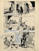 Une autre belle planche originale du « Capitaine Fracasse » de René Giffey.