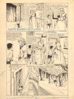 Planche originale du « Capitaine Fracasse » de René Giffey.