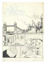 Encrage pour la couverture-planche de Spirou n°2177 (3 janvier 1980) : ce prologue restera inédit en album.