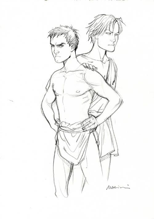 Marcus et Arminius, deux loups élevés par Rome...