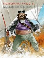 Couverture pour l'intégrale du Diable des Sept Mers (Dupuis 2016)