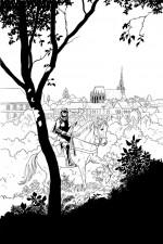 Dessin de l'affiche du festival Livre BD Eure 2012.