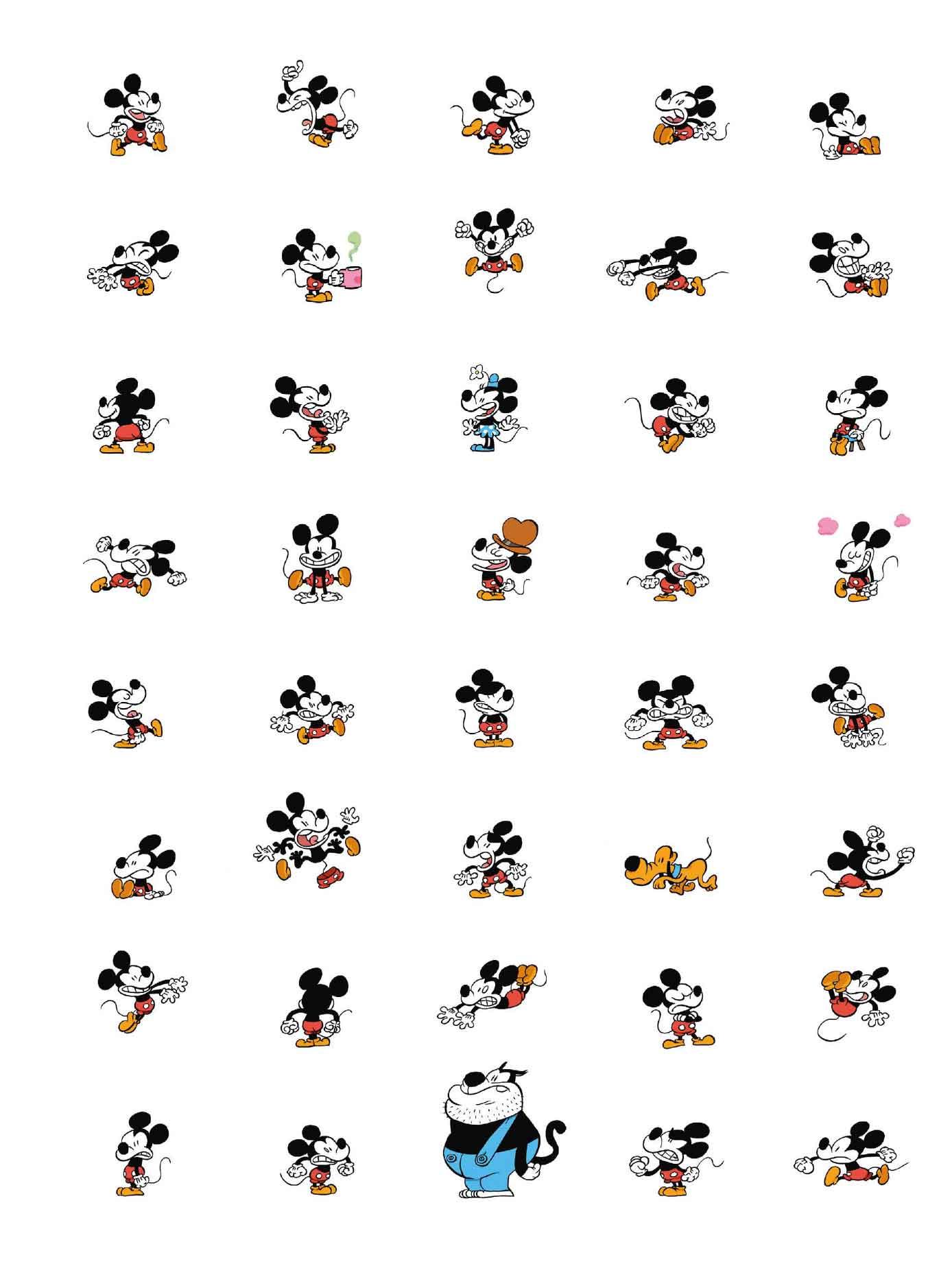 La Jeunesse de Mickey page de garde