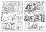 Rough et crayonné de la planche 1 du tome 12 de « Lady S ».