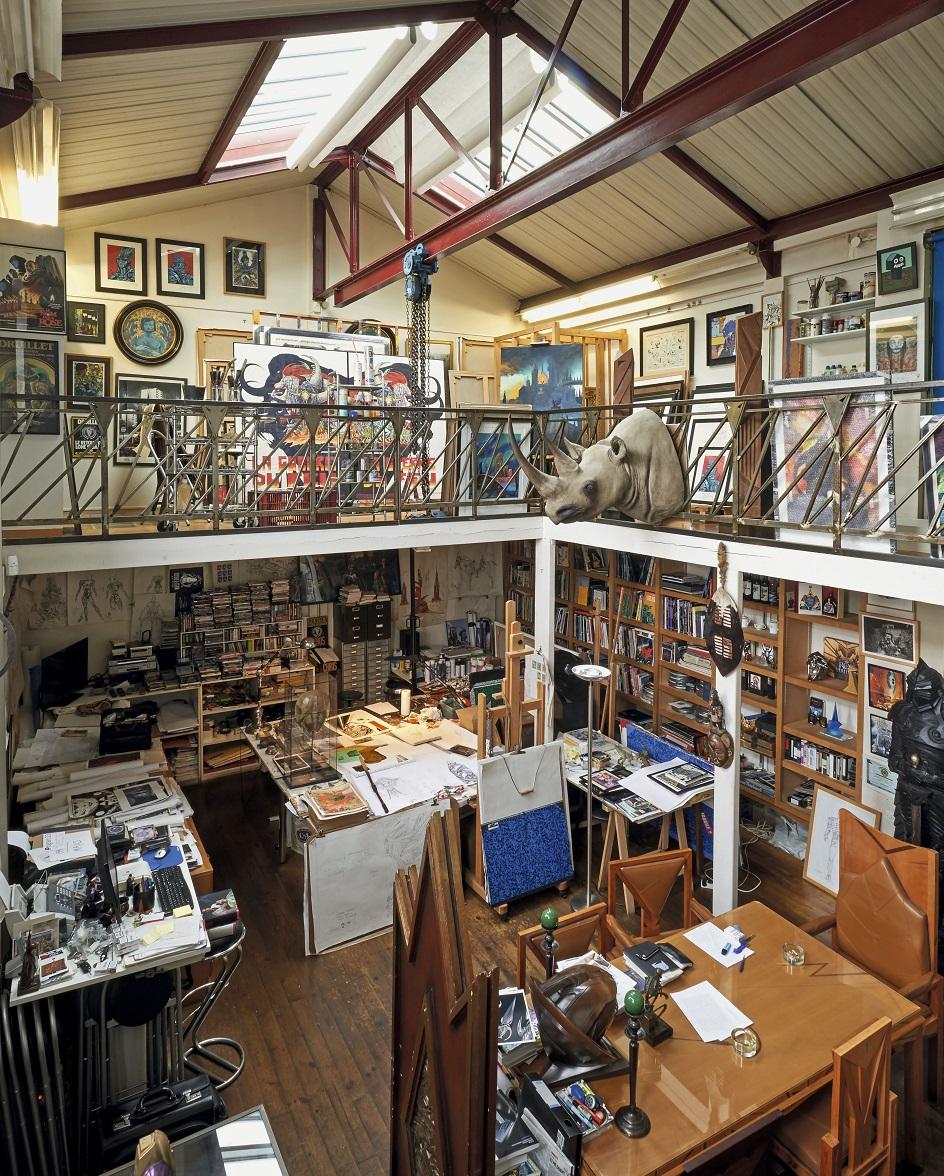 L'atelier de Philippe Druillet.