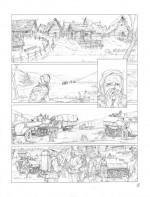 Exactions et massacres (encrage et mise en couleurs pour la 1ère planche du tome 3)
