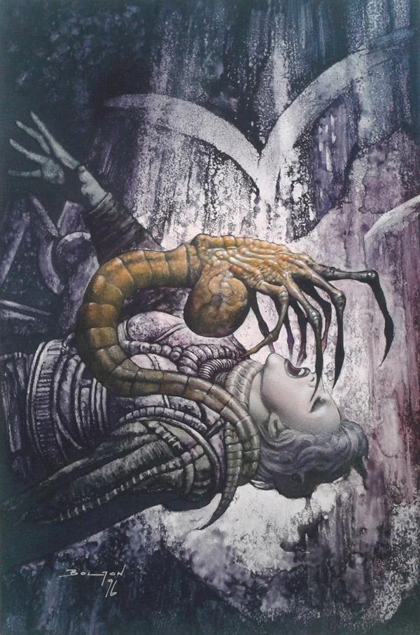 Une couverture pour le TPB Aliens Harvest (Hive).