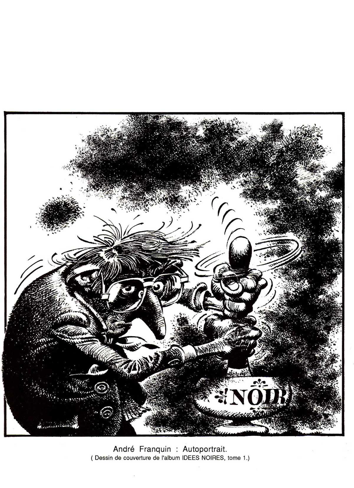 Devenues une pierre angulaire et un jalon incontournable de la bande  dessinée d\u0027humour, « Les Idées noires » (parues en janvier 1981 parmi les  albums Fluide