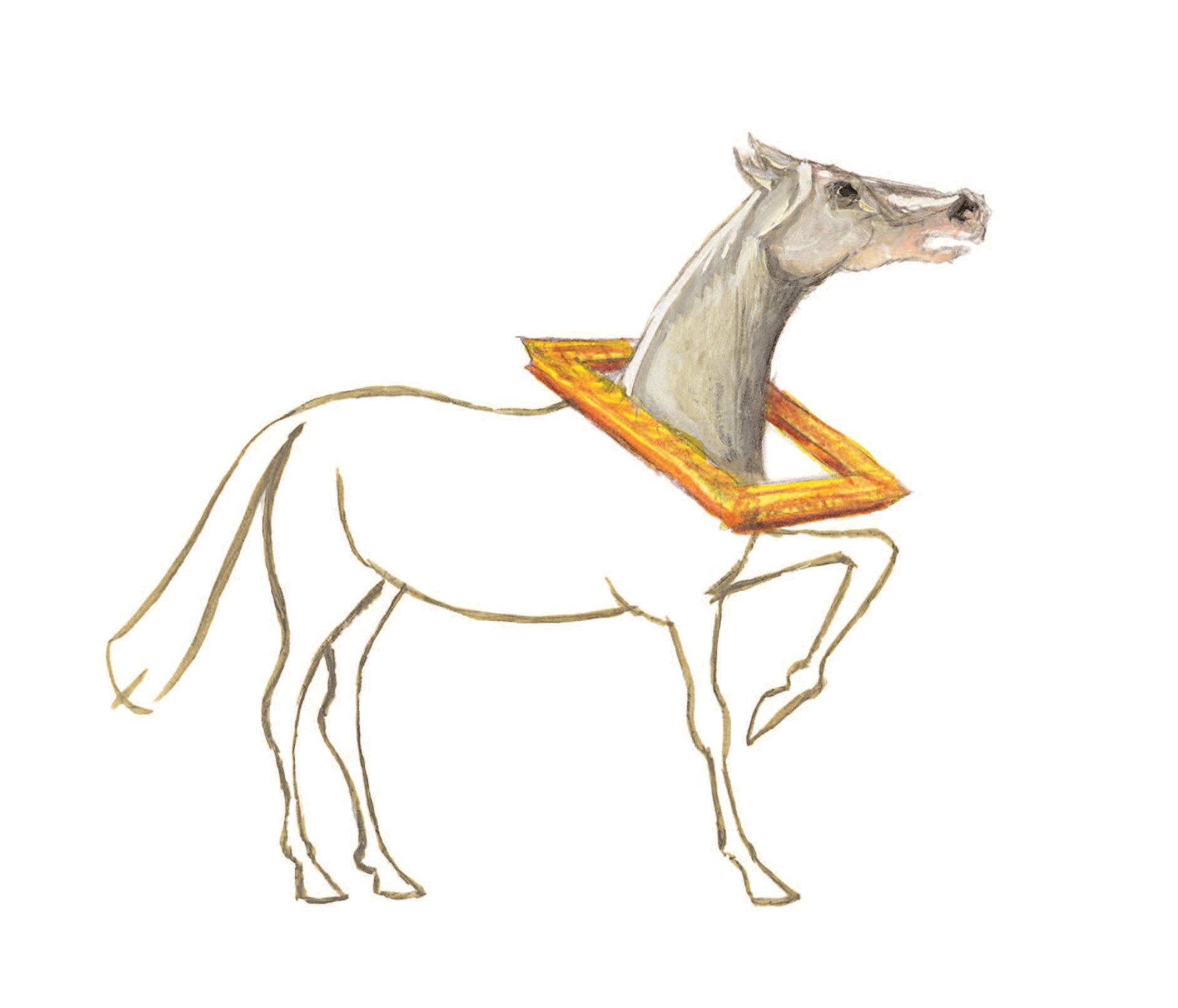 Le cheval sort du cadre