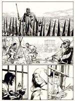 Marcus réduit à l'impuissance : encrage pour la planche 6 du tome 5