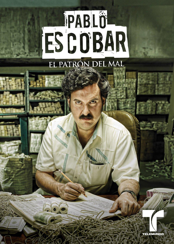 Affiches pour les deux séries TV adaptant la vie d'Escobar (Caracol 2012 et Netflix 2015)