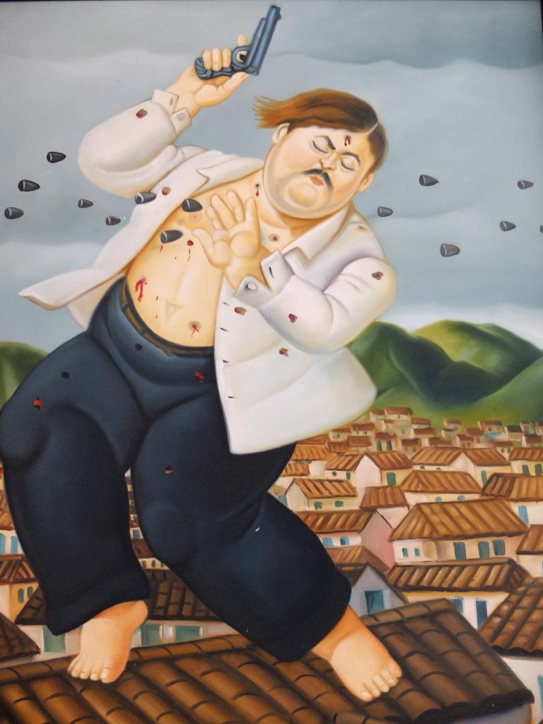 La Mort d'Escobar : tableau de Botero
