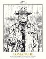 Visuel pour le 1er tome de l'intégrale Comanche en noir et blanc (éditions Niffle 2017)