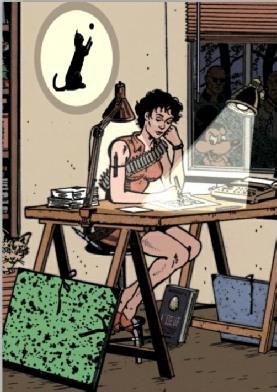 Une femme dessinatrice vue par Chantal Montellier.