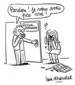 Dessin de Lisa Mandel au sujet des femmes au festival d'Angoulême.