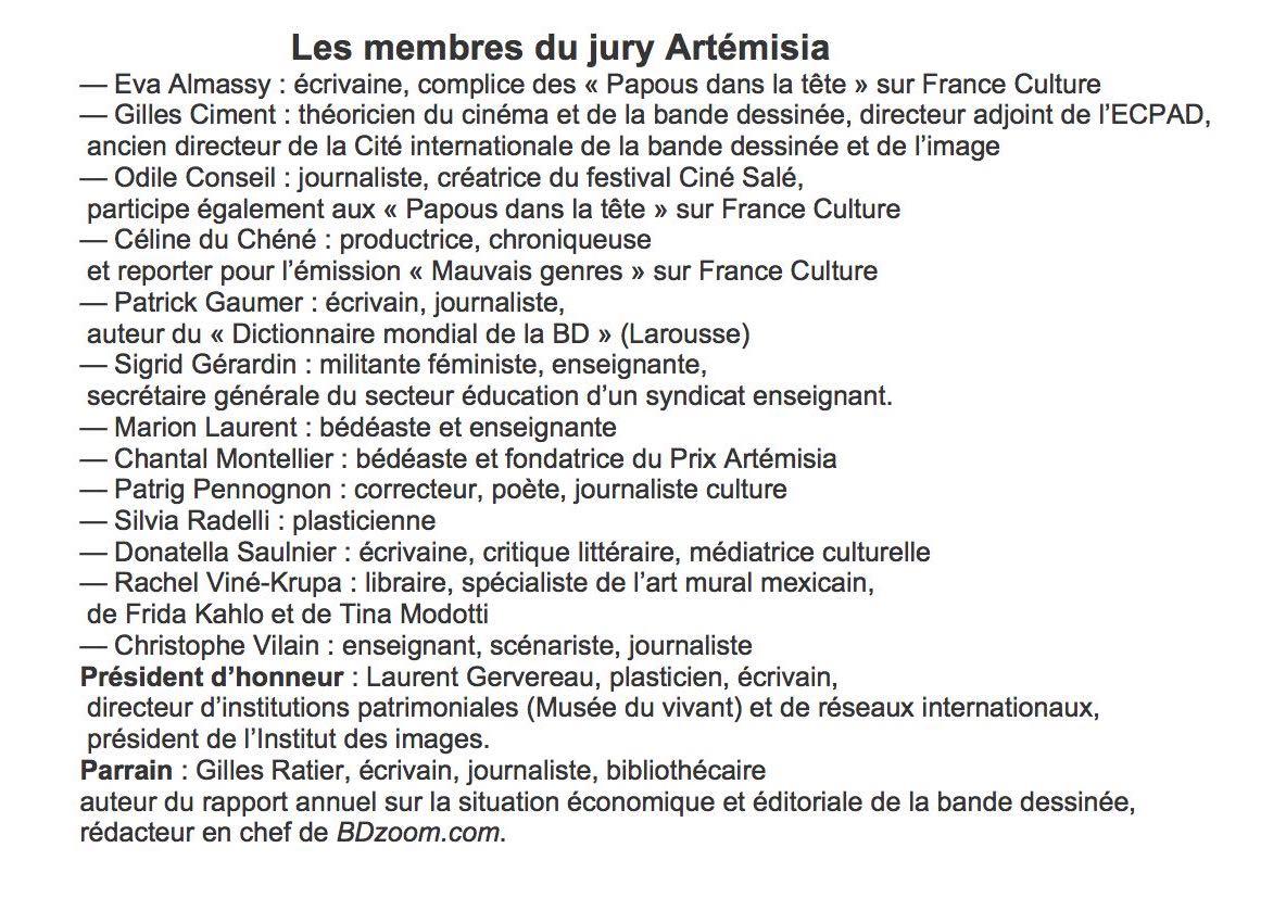 Les membres du jury ArtémisiaB