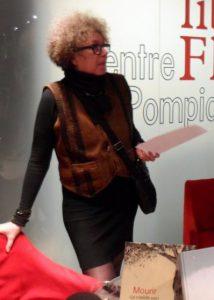 Chantal Montellier à la cérémonie de remise du Prix Artémisia en 2016.