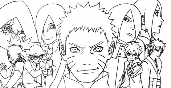 Naruto gaiden le 7e hokage et la lune carlate par - Dessin de naruto a colorier ...