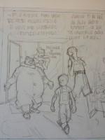 Crayonné pour une première version de la case 4 de la planche 35