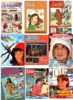 Images issues d'un article sur la presse des jeunes filles sur le site http://raymondperrin.blogspot.fr.