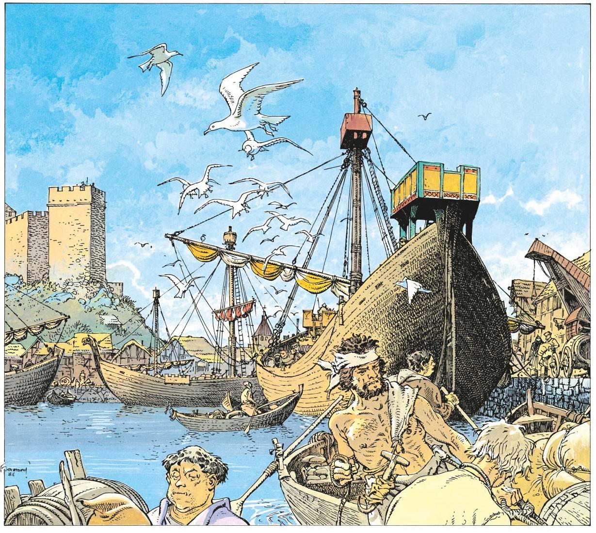 Un port fortifié médiéval