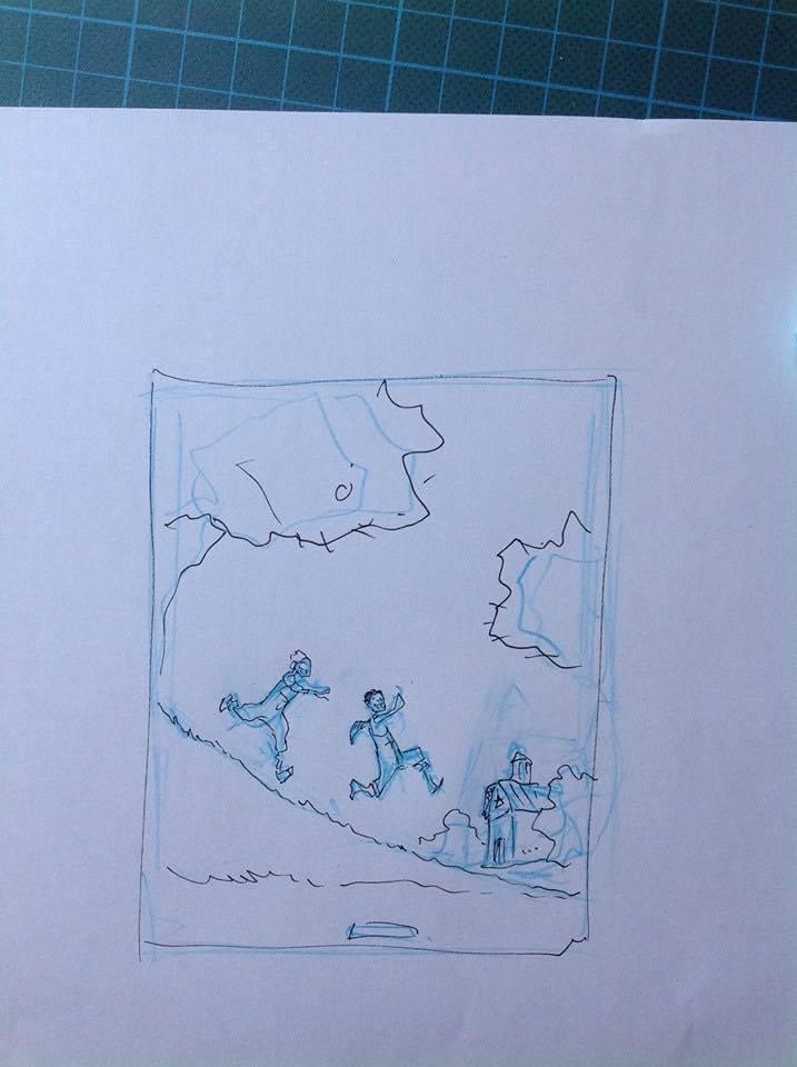 Recherches de couvertures :  trois roughs par Stéphane Louis