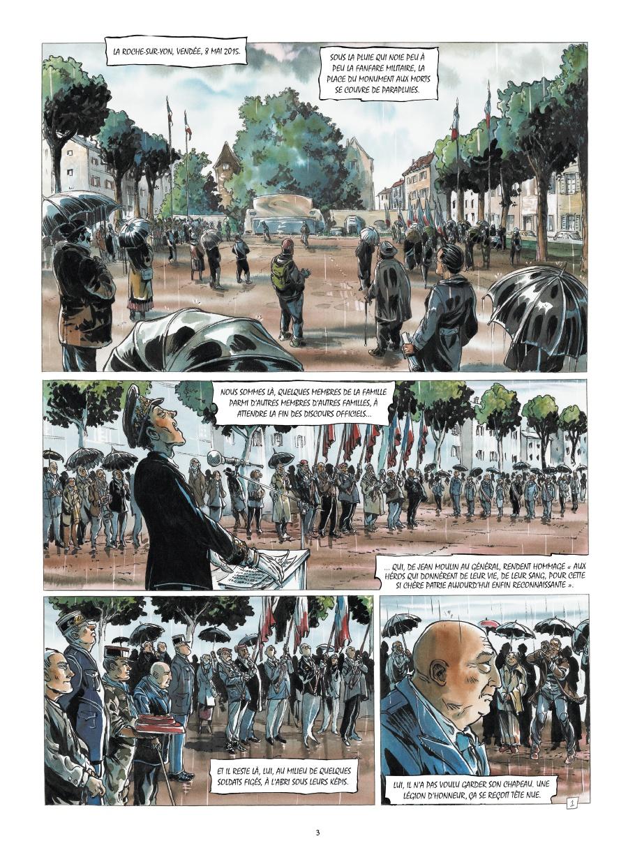 A la mémoire d'un déporté (planches 1 et 2 ( Rue de Sèvres 2017)