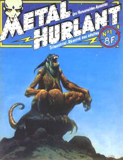 Couverture de Métal hurlant n° 1 (janvier 1975) par Moebius.