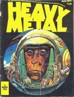 Couverture de Heavy Metal n° 3 (juin 1977) par Moebius.