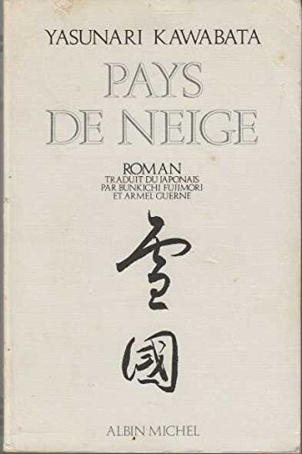 Édition de 1982 du roman de Kawabata.