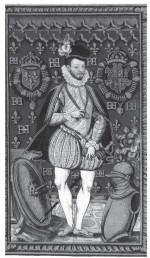 Portrait anonyme d'Henri III, 1579. Enluminure sur papier.