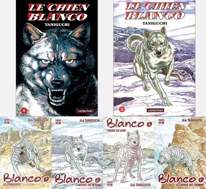 Première et seconde édition de la série «Blanco» dont les couvertures indigentes aux couleurs saturées n'ont pas aidé à sa popularité.