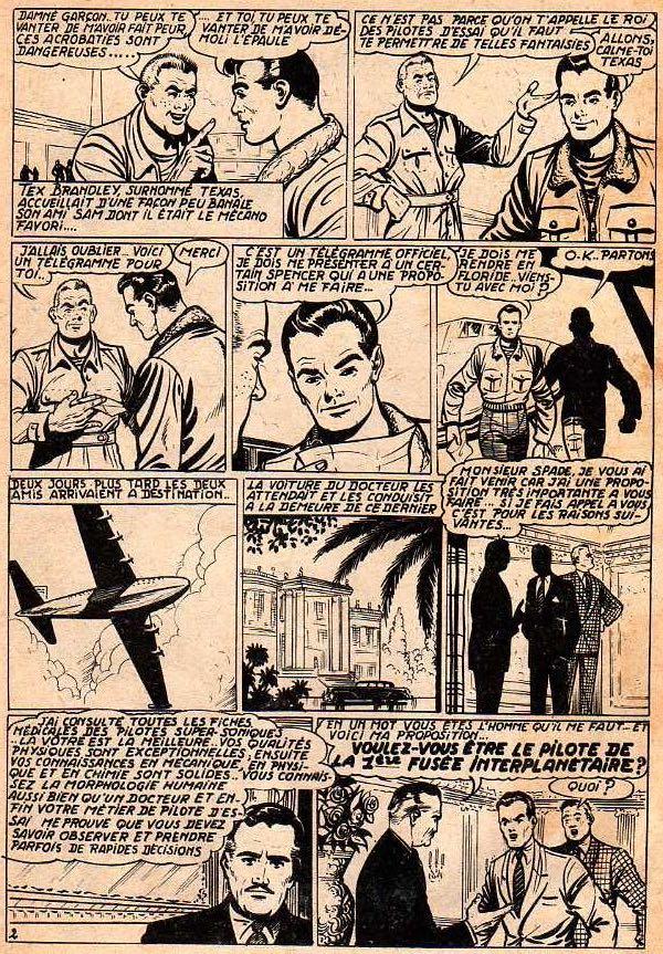 « Les Conquérants de l'espace » dans le n° 1 de Météor, en mai 1953.